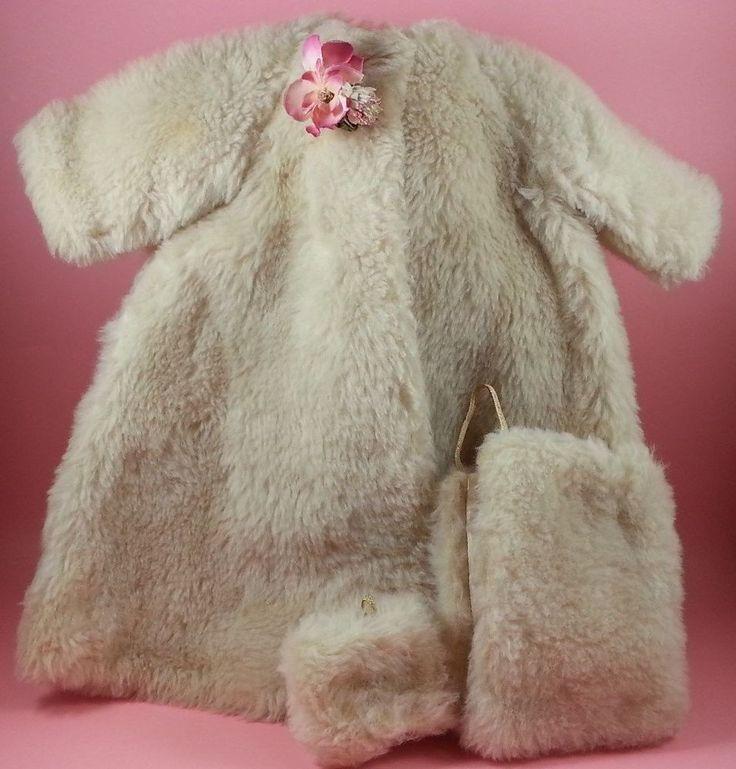 Vintage Madame Alexander Cissy Doll Tagged Faux Fur Coat