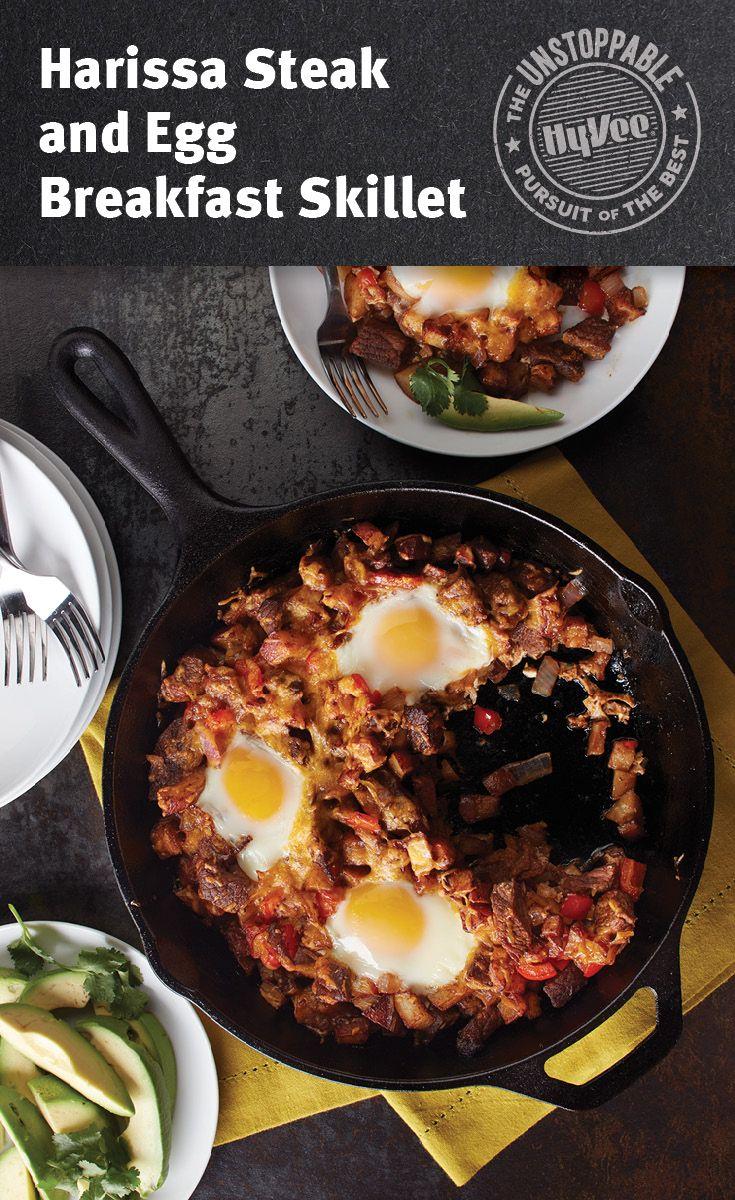 Harissa Steak and Egg Breakfast Skillet
