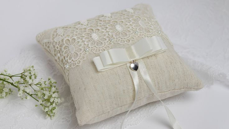 Ivory ring pillow Wedding pillow Rustic ring pillow Wedding ring bearer Beige ring pillow Lace ring pillow Country wedding pillow by AnnAccessoriesStudio on Etsy https://www.etsy.com/ca/listing/228957864/ivory-ring-pillow-wedding-pillow-rustic
