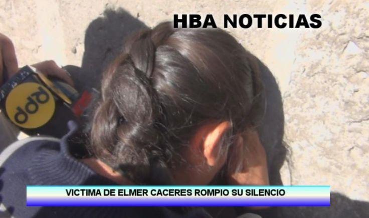 VIDEO. Joven que habría sido violada por Elmer Cáceres ratificó su testimonio en el Ministerio Público http://hbanoticias.com/10868