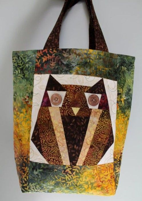 Paper Pieced Owl Bag - PDF Pattern | Coins, Beautiful and Bags