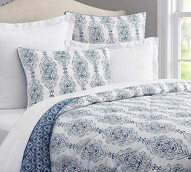 The Dessi Comforter and Shams  sold separately  feature complementary  designs inspired by Indian block prints one each side  so you can mix and  match for a. 169 best  Bedding   Comforters  images on Pinterest   Comforters