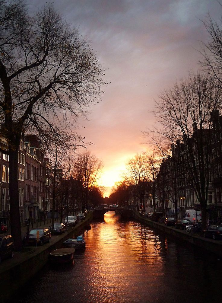 "https://flic.kr/p/7iiz4P | Leidsegracht, Amsterdam, 2009 | Was at the office; came out of a meeting; looked out of the window; saw this gorgeous sunset; put on my coat; ran downstairs; ignoring ""9 to 5 mentality"" comments from colleagues; grabbed the bike; raced to the Museumplein; took this shot along the way; made it back to the office 30mins later.  Didn't have my DLSR with me, hurray for the Panasonic Lumix TZ5!  <b>PS</b>: You can check out my most ""<b>interesting</b>"" photo's on: <a…"