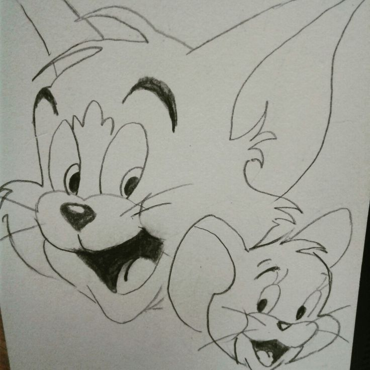 Pencil Drawing Pictures Of Tom And Jerry Pencildrawing2019