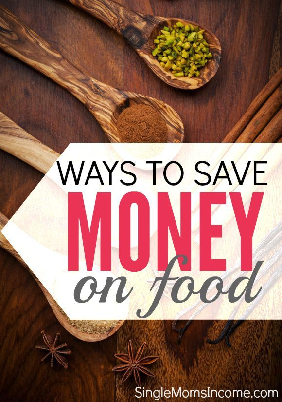 The cost of food can easily take over your budget. Luckily there are things you can do to prevent this. Here are four ways to save money on food plus a free menu planning printable. http://singlemomsincome.com/4-ways-save-money-food/