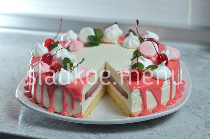 """Яркий и красочный, лёгкий и воздушный, создающий весёлое праздничное настроение, торт """"Райская ..."""