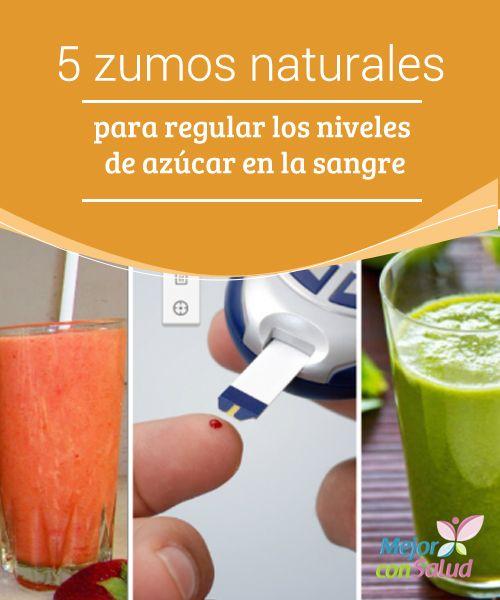 5 zumos naturales para regular los niveles de azúcar en la sangre   Los zumos naturales son un excelente apoyo para controlar los niveles de azúcar en la sangre. Te compartimos 5 interesantes recetas caseras.