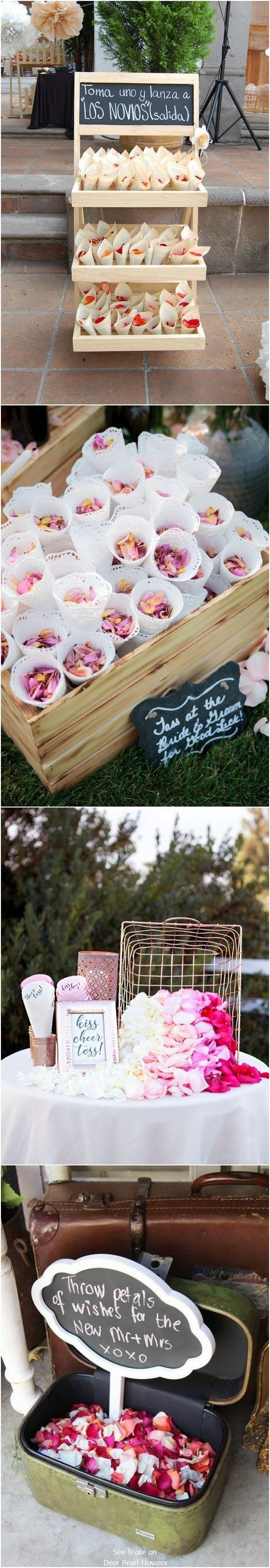 Wedding confetti wedding send off toss idea  #wedding #weddingideas #romanticwedding #weddingsendoff #rustic  http://www.deerpearlflowers.com/wedding-send-off-toss-ideas/