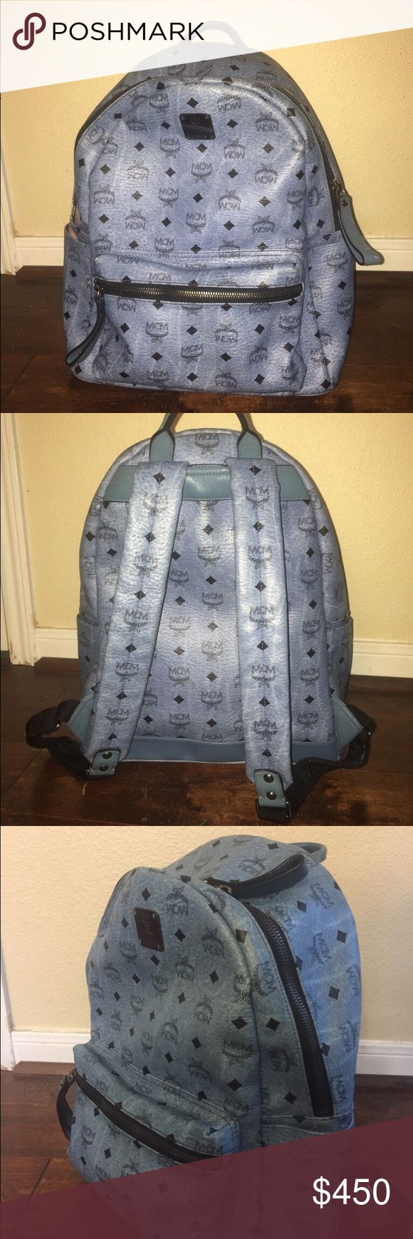 Limited Blue MCM backpack Authentic Authentic MCM backpack came straight from Neiman Marcus original price was 750$ out of store. Comes with original dust bag as well! Gets compliments ALL the time! MCM Other