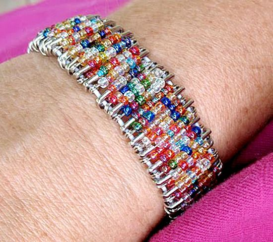 87 best ideas about safety pin crafts on pinterest for Safety pin and bead crafts