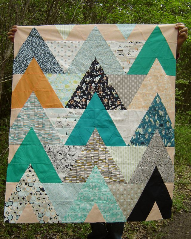 Awesome triangle quilt by marcigirldesigns.com