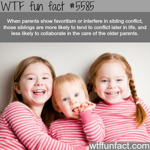 Parent's showing favoritism - Hmm! ...Gonna get back to you on this one! - WTF fun facts