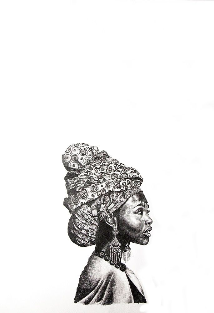 Beautry Differs #IV by Kendall-Leigh Nash. Pencil on Archival Paper #artforsale at StateoftheART gallery