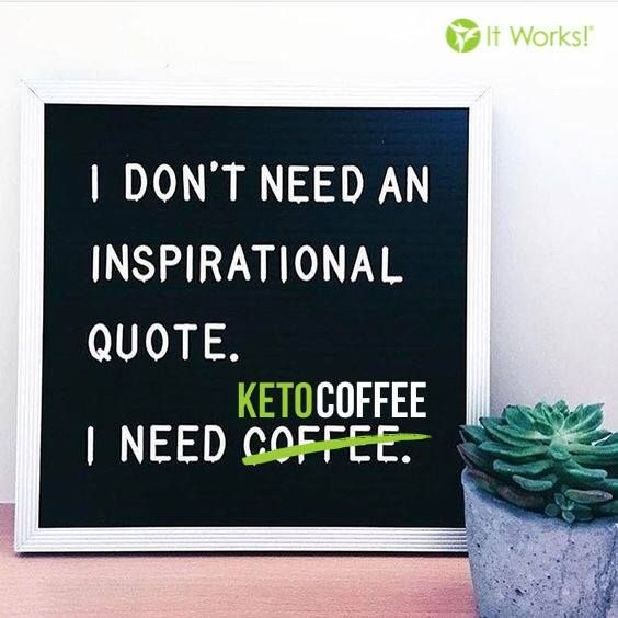 When all you need on a Monday is coffee... make it an It Works! Keto Coffee kinda day ☕️! Finish the month #FitFueledFocused ! #MondayMood