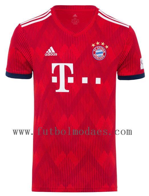 Bayern munchen 2019 Rojo camiseta y shorts camiseta de  james ec25abe2ad901