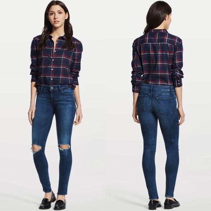 Узкие джинсы DL1961 с рваными деталями на коленях – молчаливое проявление индивидуальности, вкуса, отношения к жизни. #fashionable #outfitidea: #stylish & #comfortable #DL1961 #jeans help to create #chic #fall #outfit #мода #стиль #тренды #джинсы #модно #стильно #осень #киев #JiST