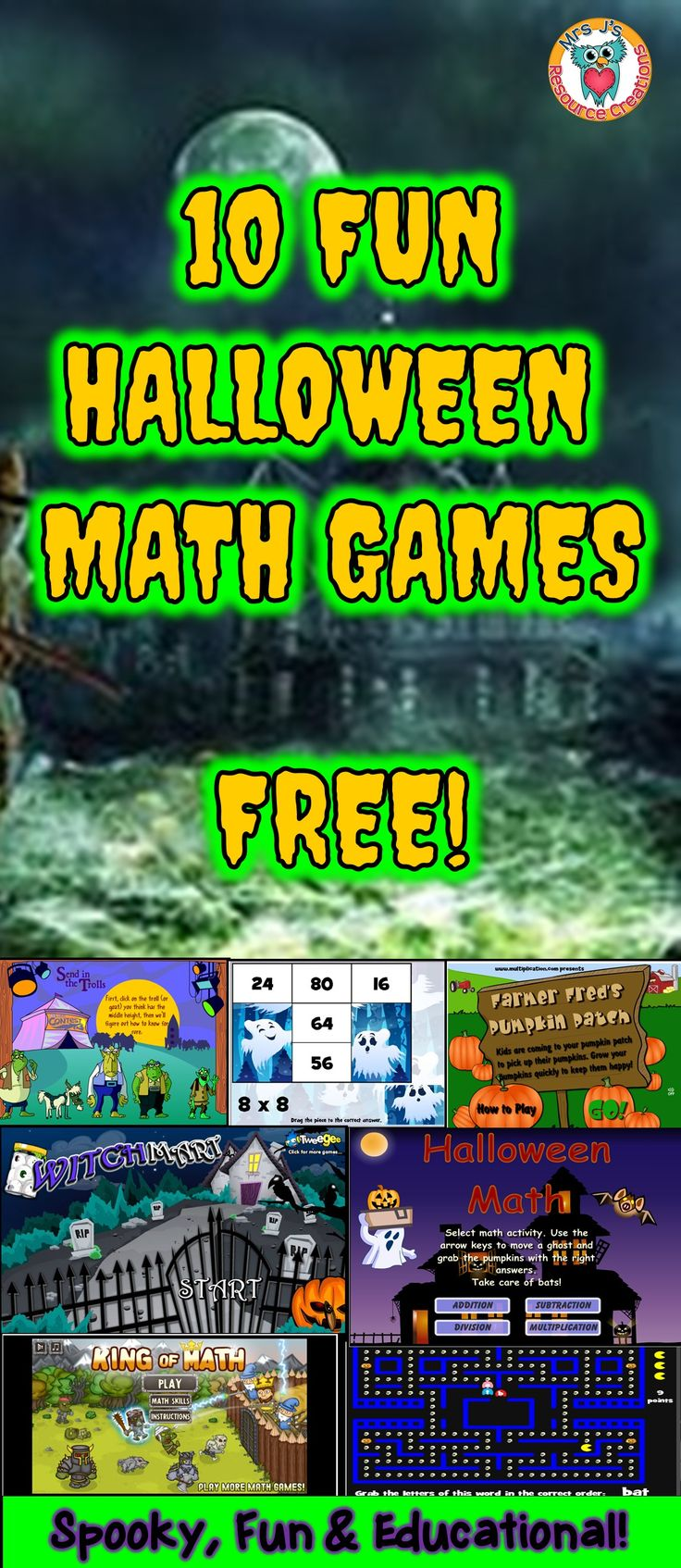 Halloween Math Games to play online for FREE!