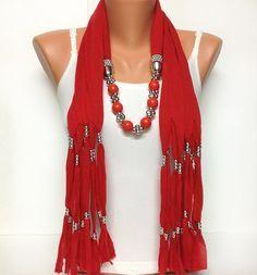 bufanda de la joyería suave de color sólido con los por BienBijou                                                                                                                                                                                 Más