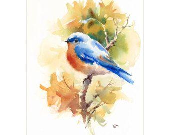 Kleiner Vogel  Original ungerahmt Aquarell auf eine hohe Qualität 300 g/m - 140lb Säure frei Fabriano Aquarellpapier. Hand bemalt und signiert von der Künstlerin Maria Stezhko.  Dieses Bild passt perfekt in eine standard-Matte für 8 x 10 Bild (Matte auf dem Foto ist zu Demonstrationszwecken und ist nicht enthalten).  Papierformat: ca. 8,5 x 11 Zoll oder 21,5 x 28 cm  Bitte beachten Sie, dass Farben je nach Monitor-Einstellungen leicht variieren können.   *********************************...