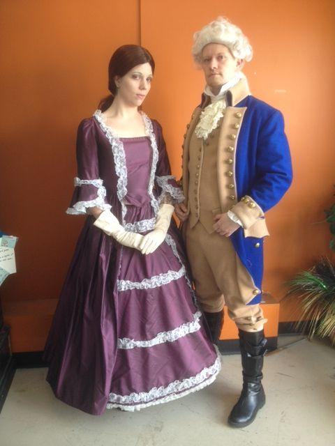 George and Martha Washington/ 1700s couple