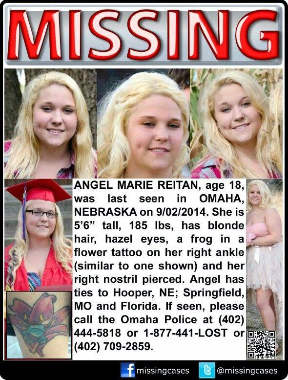 Missing,  female, Nebraska, tattoo