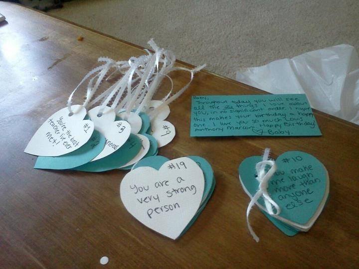 Diy Surprise Gift Idea For Him Of Reasons Why I Love You On