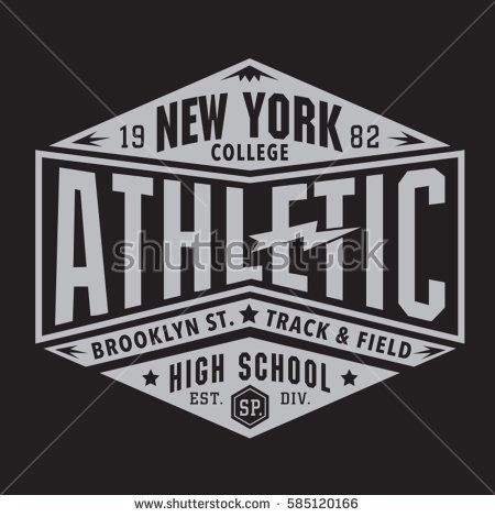 Athletic sport new York typography, tee shirt, graphics, vectors