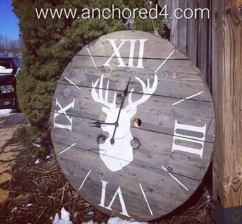 """Ohh dear"" is one of the many beautiful rustic clocks we offer at our online boutique.  www.anchored4.com We ship world wide!!!  Sign up for our free Anchor Rewards Program to earn anchor points to get money off purchases or cash in anchor points to get items in our store FREE!!!"