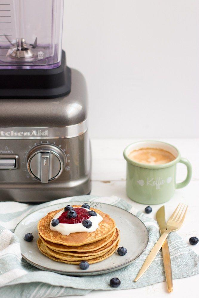Volkoren pancakes in de blender - Kokerellen // gezond, snel en gemakkelijk