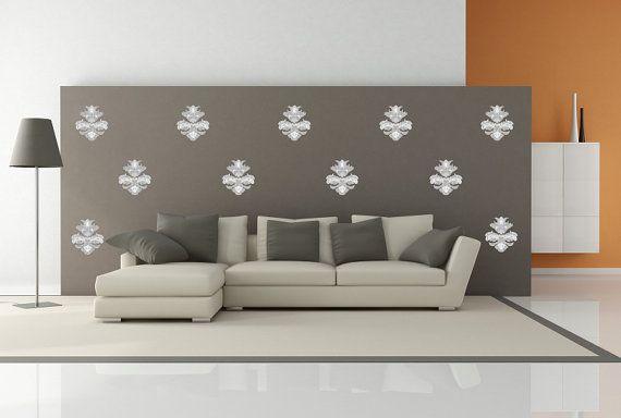 Pattern Damasco Adesivi Murali Effetto carta da di bdrhomedecor
