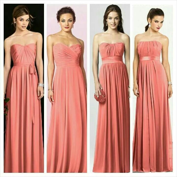 Coral bridesmaid options