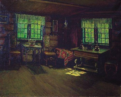 Gundersen, Helene (1858-1934) Gammelt interiør  Olje på lerret, Signert nede t.v.: Helene Gundersen Estimate (NOK) 40,000