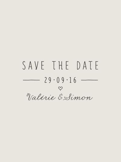 Tampon Save The Date mariage Ipomée II
