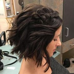 messy+waves+and+a+braid+formal+bob+hairstyle