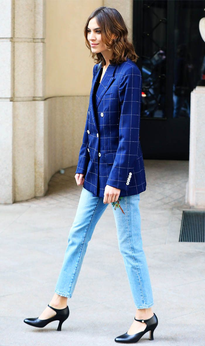 Alexa Chung just wore the perfect Gucci outfit at Milan Fashion Week. Shop her look here...