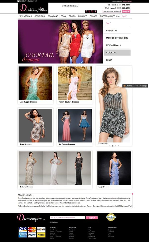 Magento eCommerce website – Love black dresses on Behance