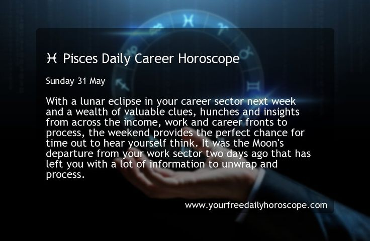 ♓ Pisces Daily Career Horoscope for Sunday 31 May | Pisces