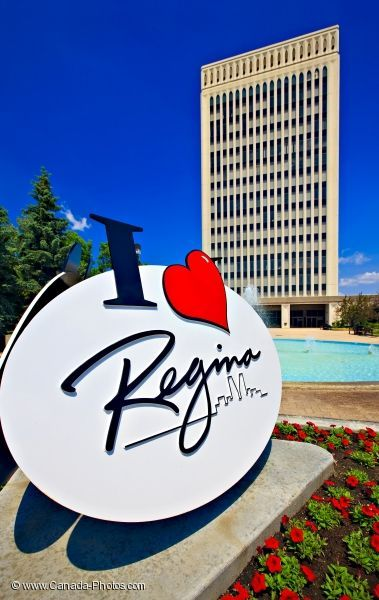 The I Love Regina structure was placed in front of City Hall in Queen Elizabeth II Court in 2003. Community representatives from Brandt Industries and SIAST offered their services to create the structure. Visit City Hall at 2476 Victoria Avenue to take a picture at this downtown City of Regina landmark. #yqr #regina #iloveregina