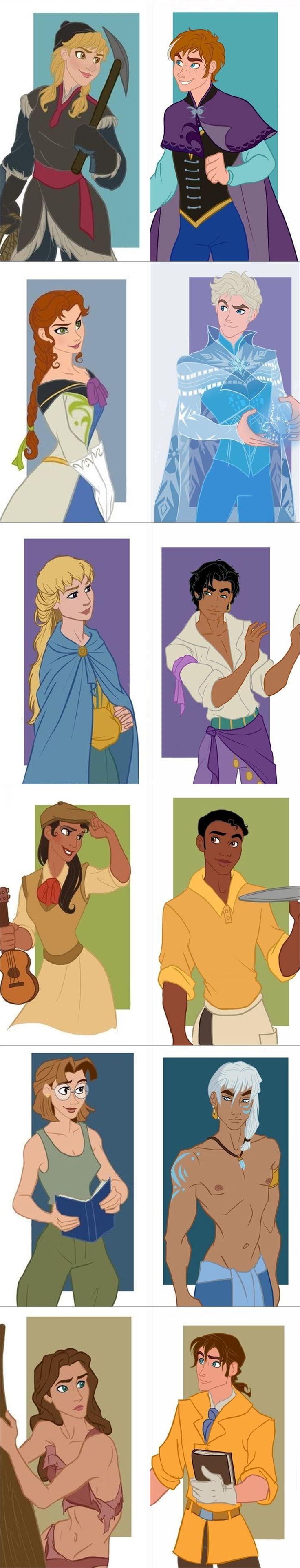 Disney - Genderbent