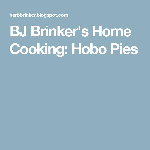 BJ Brinker's Home Cooking: Hobo Pies