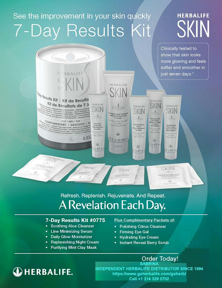 The Herbalife SKIN 7Day Results Kit is Here! A convenient