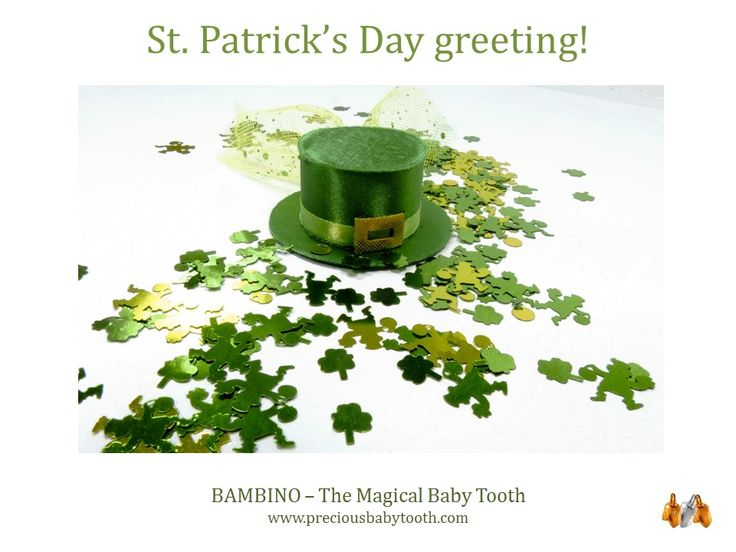 St. Patrick's Day greetings! BAMBINO - The Magical Baby Tooth www.preciousbabytooth.com #StPatrick #Bambino #Magical #BabyTooth #Jewellery #Pendant #Gift #Mom