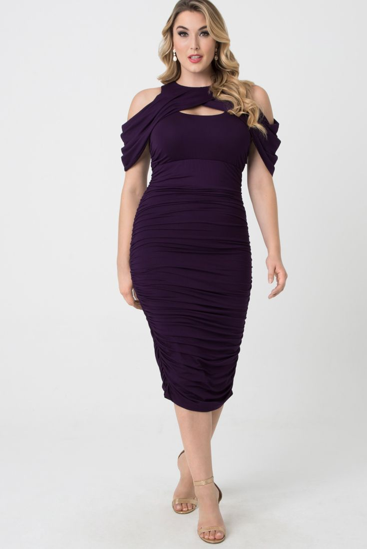 Bianca Ruched Dress | Color: Purple Reign | Dresses, Ruched ...