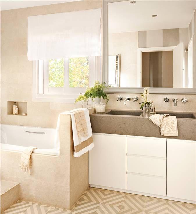 Las 25 mejores ideas sobre lavamanos con mueble en for Mueble bajo lavabo con pedestal