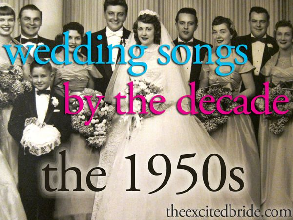 Wedding Songs From The 1950s