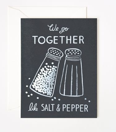 Salt & Pepper Card  AWESOME!!