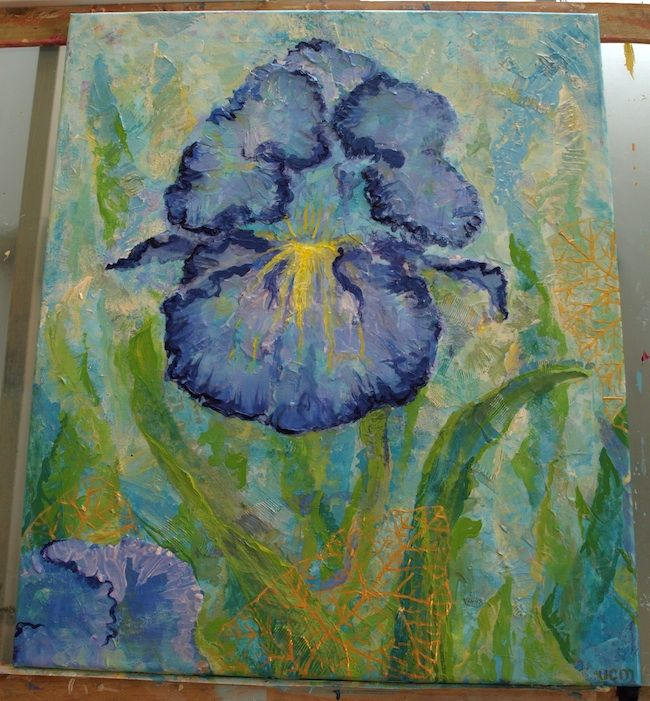 3.2015 'Iris', acrylic on canvas by u-c-m on DeviantArt