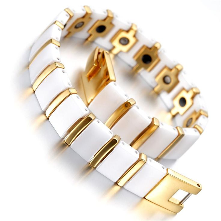 Mens Tungsten Bracelet, White