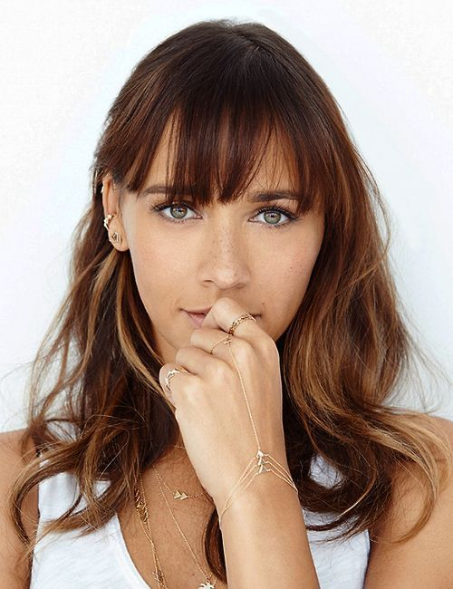 rashida jones bangs