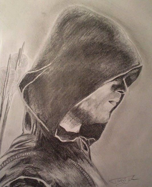 Hero/Arrow/Oliver Queen/Graphite/Drawing